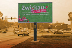 Digital out-of-home advertising in Zwickau